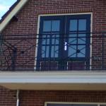 Sierlijk balkonhek.