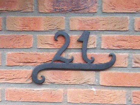 Huisnummer.