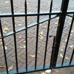 Detail van de poort